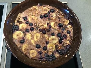 blueberry & banana oatmeal
