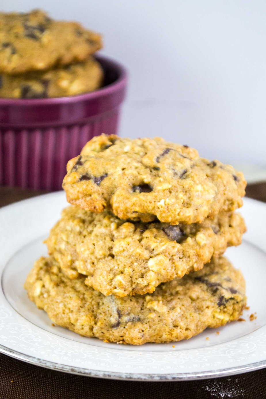 Healthy-Oatmeal-Chocolate Cookies-54